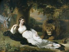 Una And The Lion by Benjamin West. Benjamin West evidently had never seen a lion before painting one. Aphrodite Aesthetic, Lion Love, Lion Painting, Prophetic Art, Jesus Art, Lion Of Judah, Lion Art, Beach Landscape, American Artists