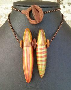 """Circus Act"" beads - Loveland Arts Council Art2Wear Donation."