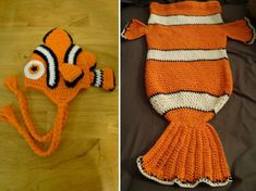 Nemo Crochet Coocoon and Hat Free Pattern