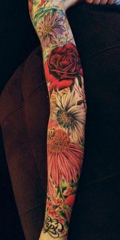 flower sleeve | Tumblr