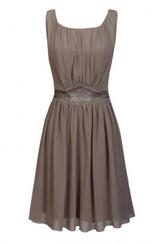 Taupe Jewel Panel Dress  Nicole check out this site for T's wedding