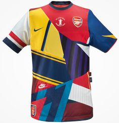Commemorative shirt by Nike celebrating 20 years with Arsenal. (Not an Arsenal fan). Nike Football Kits, Soccer Kits, Football Design, Arsenal Football, Arsenal Kit, Arsenal Jersey, Arsenal Players, Manchester United, Manchester City