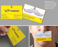 Mustache Business Card