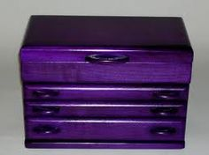 A Purple Wooden Jewelry box????? Omg yes!!!