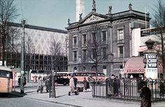Rotterdam, Coolsingel met Erasmiaans Gymnasium, Beurs en Café v/h de Unie, 1939