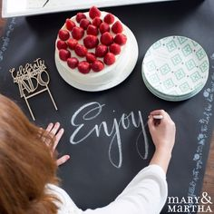 Our chalkboard paper table runner adds to any table for any occasion!