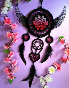 Check out this item in my Etsy shop https://www.etsy.com/listing/615769363/dreamcatcher-heartagram