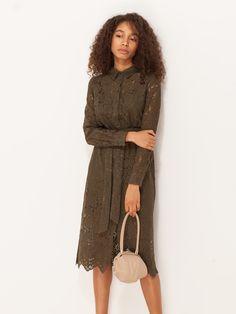 Кружевное платье с поясом - Платья | LIMÉ