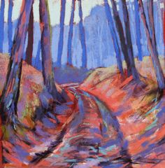 Soft Pastel Paintings | path in the forest 2 (soft pastel) by ~PatrickHENRY on deviantART