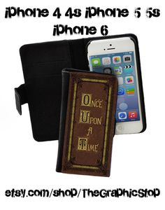 Once Upon A Time Fairytale Book Inspired Wallet Case iphone 4s iphone 5s iphone 6 wallet  & iPhone 6 Plus Leather gear for iphone cases