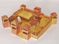 Western Fort Paper Model - by Seite 42 - Forte Apache Wooden Fort, Forte Apache, Fort Western, Westerns, Papercraft Download, Dungeons And Dragons Homebrew, Old Fort, Hobby Trains, Le Far West