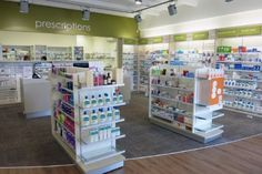 Pharmacy on Dominion - The new building was purpose build adjacent to an established medical centre with the pharmacy on ground level. The pharmacy features a large dispensary with a consult room. Working with the clients colour preference a light and fresh colour scheme was born delighting both staff and customers.
