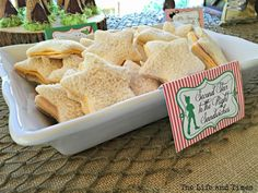 Boys Peter Pan Birthday Party Themed Party Food Ideas