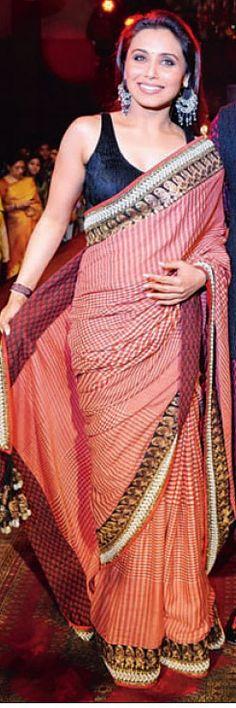 Rani Style Saree   #CelebritySaree, #saree, #designersaree