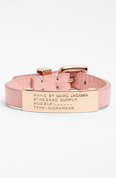 LOVE. MARC BY MARC JACOBS Leather ID Bracelet   Nordstrom