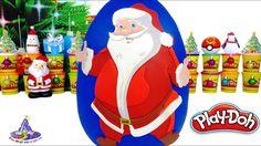 Huevo Sorpresa Gigante de Santa Claus o Papá Noel de Plastilina Play Doh...
