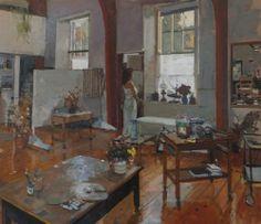 Dora at St Clements Studio. - Ken Howard RA, NEAC - Island Fine Arts