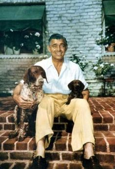 Clark Gable and dachshund Commissioner.