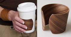 Coffee Cuff slips off wrist to become a sleeve for your cup