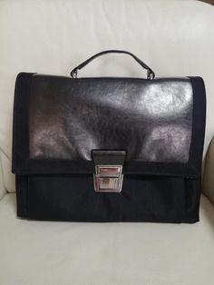 Sac Quadrille noir toile à sac et simili de Magali - Patron Sacôtin