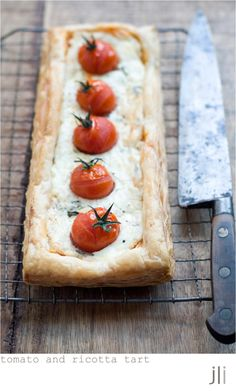 ricotta and cherry tomato tart