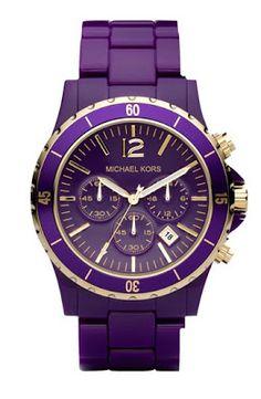 Michael Kors Runway Quartz Purple Dial Women's Watch MK5511