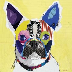Frenchie collage by Michael Keck.