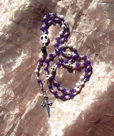 Baron Samedi rosary or prayer chaplet. $25,00, via Etsy.
