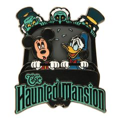 Cartoon Haunted Mansion Disney World | Haunted Mansion Doom Buggy Mickey Donald and Hitchhiking Ghosts Pin