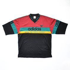VINTAGE ADIDAS DECENTE Shirt // Adidas V-Neck Shirt // Adidas Run DMC // 80s // 90s Fashion Outfits // Retro Streetwear // Windbreaker // Oldschool // men // women // unisex // Rare Clothing Clothes Items // varsity// bomber// style // etsy