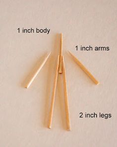 restlessrisa: TOOTHPICK PEOPLE...toothpick dolls. They are so easy to make, and inexpensive! All you need is toothpicks, cut like this:...Embroidery floss, in whatever color you want. I like #739 for the skin color. Embroidery floss is not expensive, and can be purchased at most craft or sewing stores.
