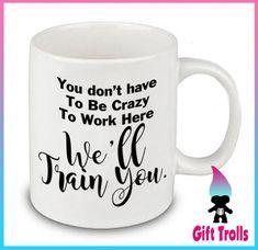Nous allons vous former une tasse de café cadeau mignon drôle | Etsy Mugs, Tableware, Gifts, Unique, Cute Gifts, Drinks, Lineup, Top, Dinnerware