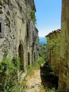 Deserted: The village of Croce was once the home of a bustling slave market run by the Saracens where Asian women were sold to the highest bidder a thousand years ago