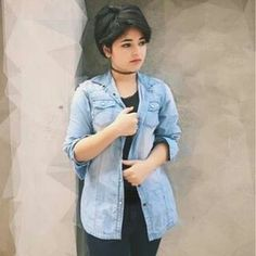 You are my moon Zaira Wasim, Denim Button Up, Button Up Shirts, Sanya Malhotra, You Are My Moon, Beautiful Actresses, Bollywood Actress, Girlfriends, Actors