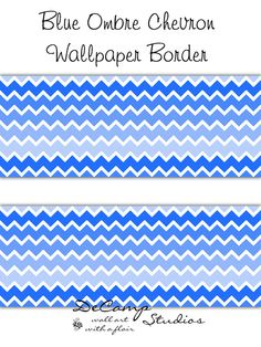 Pink Ombre Chevron Wallpaper Border Wall Decals For Baby Girl Nursery Or  Childrenu0027s Room Decor. Soft Pastel Colors #decampstudios   Pinterest    Chevron ...