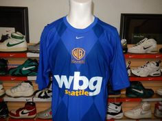 Rare Nike Fit Dry Warner Brothers WBG Games Jersey Shirt XL Blue Dri WB Seattle #Nike #ShirtsTops