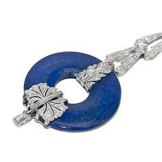 Platinum, Diamond and Lapis Lazuli Long Dangle Art Deco Earrings. Round and Baguette Diamonds = 2 Carats, Screw back posts. 1930s. (hva)