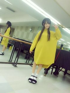 本日の私服〜( ^ω^ ) このワンピース、偶然にも℃-ute鈴木愛理さんと色違いでした