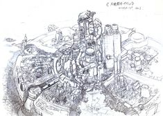 View an image titled 'Midgar Rough Sketch' in our Final Fantasy VII art gallery featuring official character designs, concept art, and promo pictures. Final Fantasy Vii, Final Fantasy Artwork, Environment Painting, Environment Design, Artwork Prints, Poster Prints, Tetsuya Nomura, Free Anime, Art Station