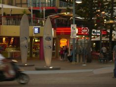 Gold Coast - Cavill Avenue Surfers Paradise Queensland as the sun goes down and the shops light up. #Gold Coast