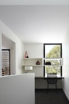 shelf in front of window! ||| Cressy St Townhouses | Nixon Tulloch Fortey Architecture Pty Ltd
