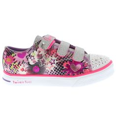 5492eec010b2 Kids Girls Skechers Twinkle Toes Breeze Pop Tastic Light Up Trainers All  Sizes