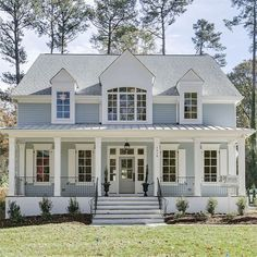 """131 Likes, 6 Comments - Allen Tate Companies (@allentatecompany) on Instagram: """"Love the fresh colors on this incredible DJF Builders home in Raleigh,NC. Check it out today! 1418…"""""""