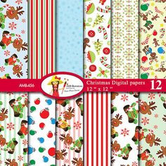 80 OFF Christmas Reindeer digital paper by AMBillustrations. If you want access to freebies and contests go like our Facebook page : https://www.facebook.com/ambillustration  #clipart #vectorgraphic #digitalscrapbooking #clipart #digitalart #christmas #christmaspapers #christmasdigitalpapers