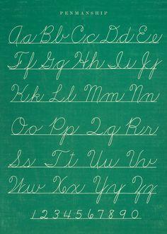 Penmanship Chart Poster — grandifloraHOME