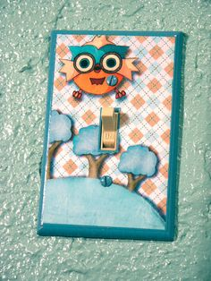 Kids Owl Nursery Light Switch Plate Cover Hand by ApplewoodKnoll, $20.00