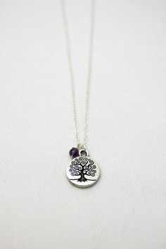 Tree of life! Contemporary Furniture Stores, Special Meaning, Tree Of Life Necklace, Amethyst Stone, Stone Beads, Sterling Silver Chains, Pewter, Diy Jewelry, Strength