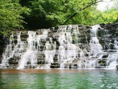Rutledge Falls, near Tullahoma,  is located in a privately-owned natural area that offers hiking, picnicking, and swimming in ice-cold water.