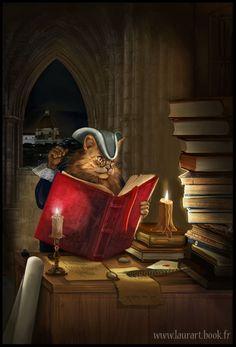 THE CAT READER BY LAURA-CSAJAGI on deviantART