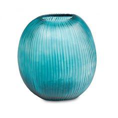 Guaxs Vase Gournia L clear petrol 1710 CLPE